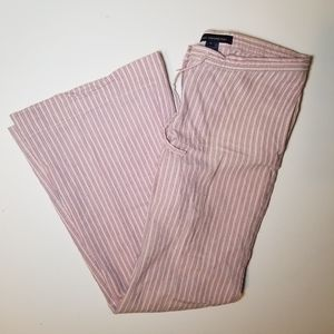 French Connection Striped Cotton Linen Pants